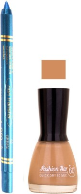 Fashion Bar Musted Nail Polish With Pro Non Transfer Turquoise Blue Kajal 110