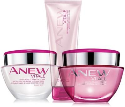 Avon Anew Vitale Day Cream SPF 25 (30 gm) + Night Cream (30 gm) + Cleanser (125 gm)