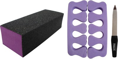 PANACHE Emery Nail Buffer, Finger Separator & Nail File Small