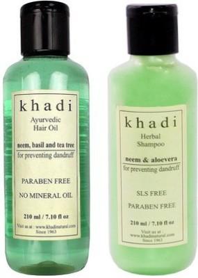 khadi Natural Neem Anti Dandruff Combo