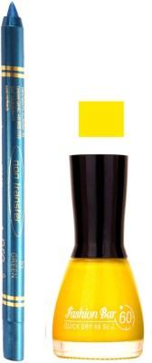 Fashion Bar Yellow Nail Polish With Pro Non Transfer Turquoise Blue Kajal 62