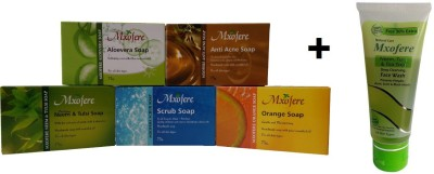 Mxofere Combo Aloevera Anti Acne Neem Tulsi Scrub Orange Soap Kit