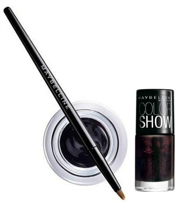 Maybelline Lasting Drama Gel Eye Liner and Color Show Combo 2