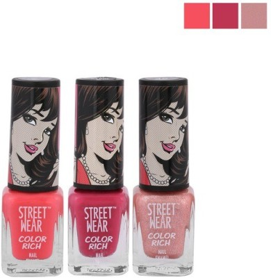 Street Wear Color Rich Nail Enamel, Pink Love Collection,5ml