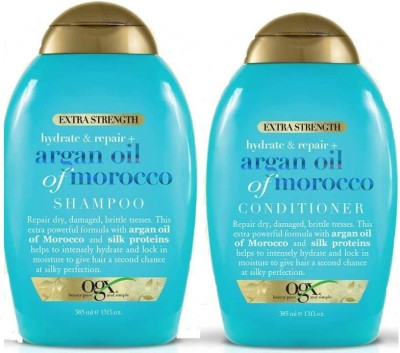 OGX Extra Strength Argan Oil Of Morocco Combo