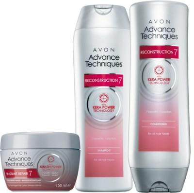 Avon Advance Techniques Reconstruction Shampoo (200ml), Conditioner (200ml) and Treatment Mask (150g)