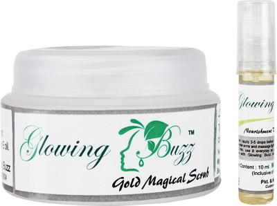 Glowing Buzz GB_5511 - Combo of Gold Magical scrub and Anti Tan pack