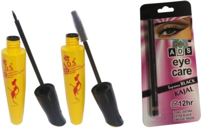ADS Eye Liner / Mascara / Kajal(Set of 3)