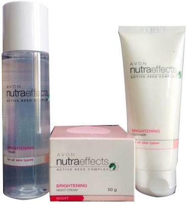 Avon Nutra Effects Brightening Night Cream, Toner and Cleanser