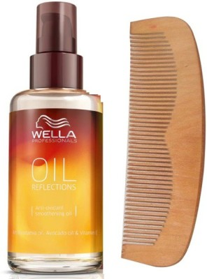 Wella Professionals Oil Reflection Smoothing Treatment Hair Serum With 19 cm Wooden Comb