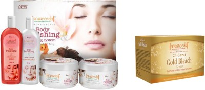 Aryanveda Body Polishing System (1200gm) With One Gold Bleach (250gm)