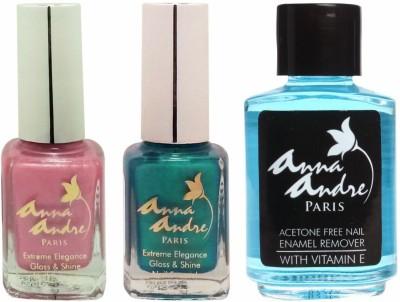 Anna Andre Paris Nail Polish - Sugar Sprinkles Duo Set & Nail Polish Remover