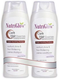 NutriGlow Protein Nourishing Shampoo & Conditioner Combo- For Weak And Frizzy Hair