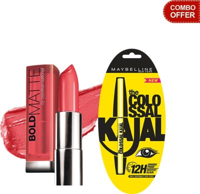 Maybelline The Colossal Kajal with Bold Matte by Color Sensational Lip Color