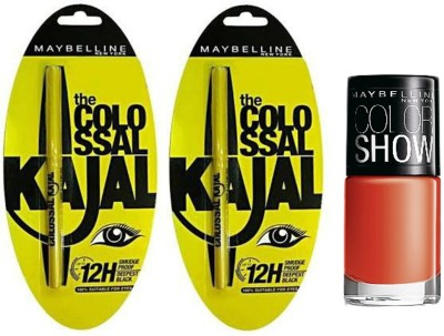 Maybelline The Colossal Kajal with Color Show Nail Color