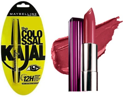 Maybelline The Colossal Kajal with Color Sensational Moisture Extreme Lip Color