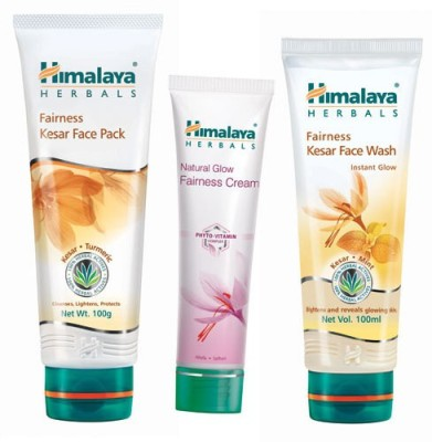 Himalaya Fairness Face Wash, Face Pack & Fairness Cream(Set of 3)