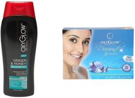 Oxyglow Golden Glow Ginger& Honey Shampoo & Diamond Facial Kit 73gm