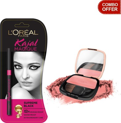 L,Oreal Paris Kajal Magique with Lucent Magique Blush