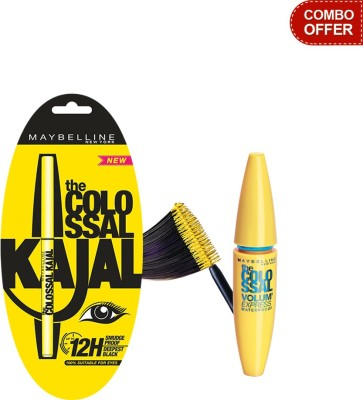 Maybelline The Colossal Kajal with Volum Express Colossal Waterproof Mascara