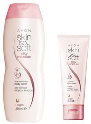 Avon Silky Moisture Replenishing Body Lotion (250 ml) & Hand Cream (75 ml)