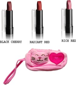 Oriflame Sweden Pure color lipstick 2.5g pack of 3 with carry pouch
