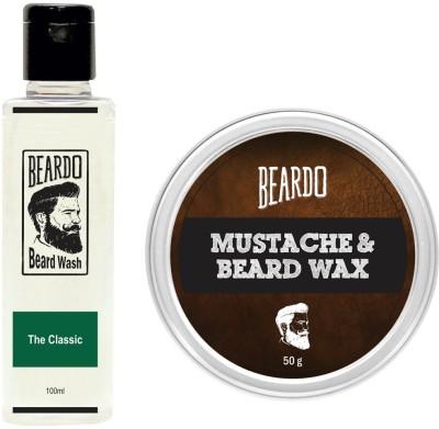 Beardo The Classic Beard Wash (100ml) & Wax (50g) Combo