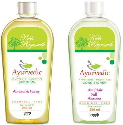 Kesh Regrowth Almonds Honey Shampoo & Anti Hair fall Aloevera Conditioner
