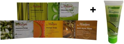 Mxofere Combo Lemongrass Aloevera Jasmine Orange Anti Acne Soap Kit