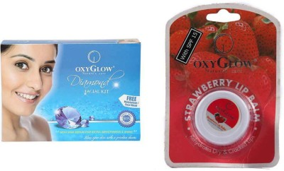 Oxyglow Diamond Facial Kit & Lip Balm