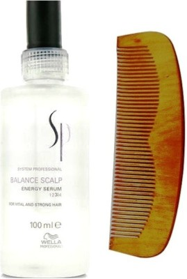 Wella Professionals Balance Scalp Energy For Vital and Strong Hair Serum 100mL With 19 cm Comb