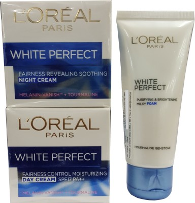 L,Oreal Paris White Perfect Fairness combo