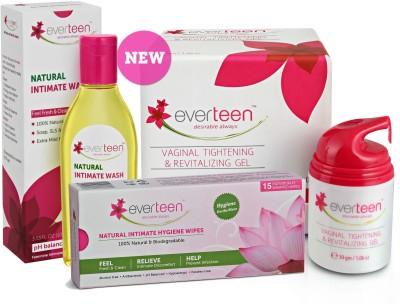 Everteen everteen combo gel 30gm wipes wash