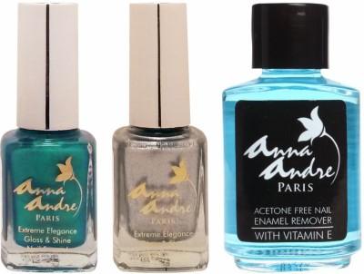 Anna Andre Paris Nail Polish - Amazon Sparkle Duo Set & Nail Polish Remover