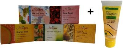 Mxofere Combo Mixfruit Rose Orange Almond Honey Sandal Turmeric Soap Kit