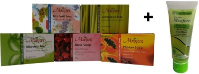 Mxofere Combo Mixfruit Lemongrass Aloevera Rose Papaya Soap Kit
