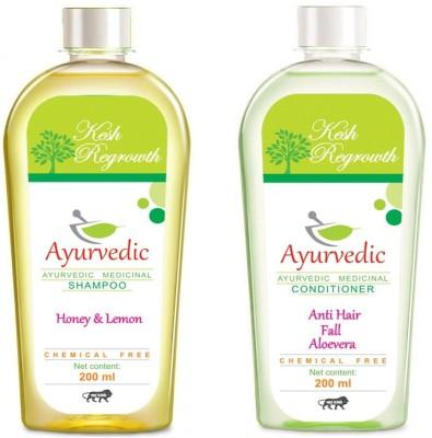 Kesh Regrowth Honey Lemon Shampoo & Anti hair Fall Conditioner