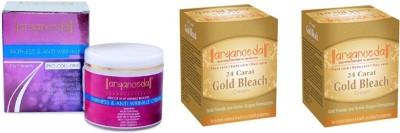 Aryanveda Combo Kit of 1 Fairness & Anti Wrinkle Cream & 2 Gold Bleech
