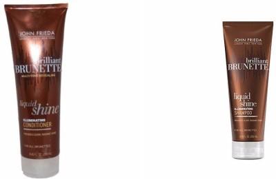 John Frieda Brilliant Brunette Liquid Shine Illuminating Shampoo Conditioner
