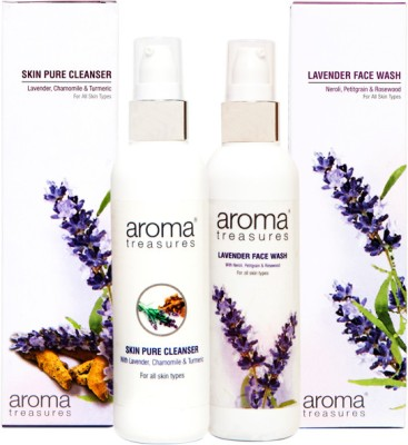 Aroma Treasures Lavender Facewash and Skin Pure Cleanser