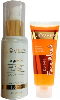 Jovees Argan oil sun guard lotion UVA UVB protection Water resistance SPF 60 PA+++