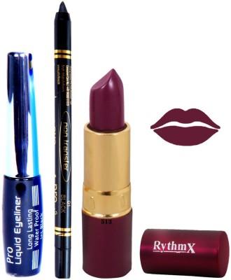 Rythmx Mauve Lipstick Eyeliner Kajal Combo Kit 780113