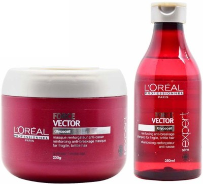 L,Oreal Paris Force Vector Glycocell Shampoo and Mask