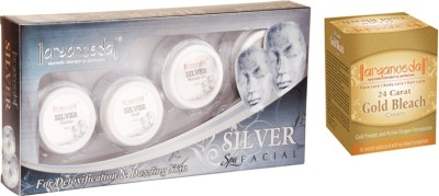 Aryanveda Silver Facial Kit & Aryanveda Gold Bleech Combo