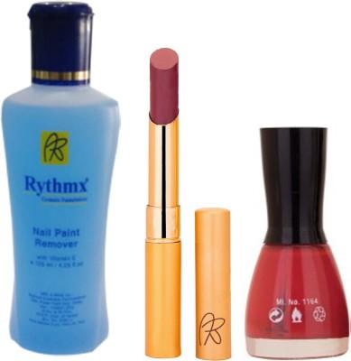 RythmX RythmX Mauve Lipstick +Nail Polish Combo 2206201623