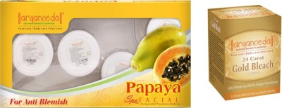 Aryanveda Papaya Facial Kit & Aryanveda Gold Bleech Combo