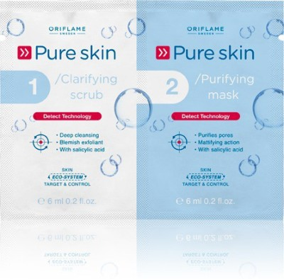 Oriflame Sweden Pure Skin Clarifying Scrub and Purifying Mask