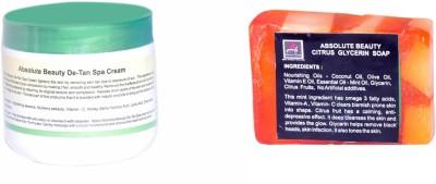 Absolute Beauty De-Tan Black Dot Remove Fairness Skin Care Cream for Dead Cells + Citrus Soap