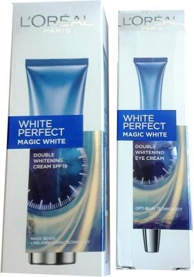 L,Oreal Paris White Perfect Magic spf 19 + eye cream