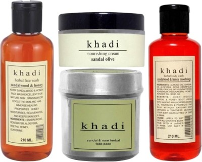 khadi Natural Sandalwood Total Body Care Combo